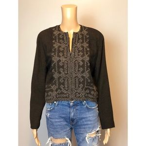 57f2cf066d9 Caroline Rose Neiman Marcus black crop zip jacket